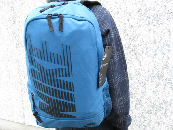 1 NIKE ナイキ リュックサック デイパック デイバッグ メンズ レディース 青 ブランド 新品 人気 44cm 22L BA4863 通学 通勤 バックパック_画像1