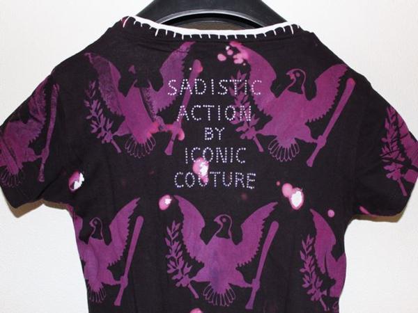 サディスティックアクション SADISTIC ACTION ICONIC レディース半袖Tシャツ ラモーンズ Sサイズ アイコニック 新品_画像7