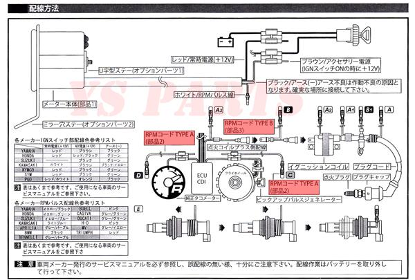 KOSO針式LEDタコメーターVOX/グランドアクシス/マジェスティ125/シグナスX/BW'S100/NMAX125/NMAX155/TW200/TW225/セロー225/SR400等に_画像10