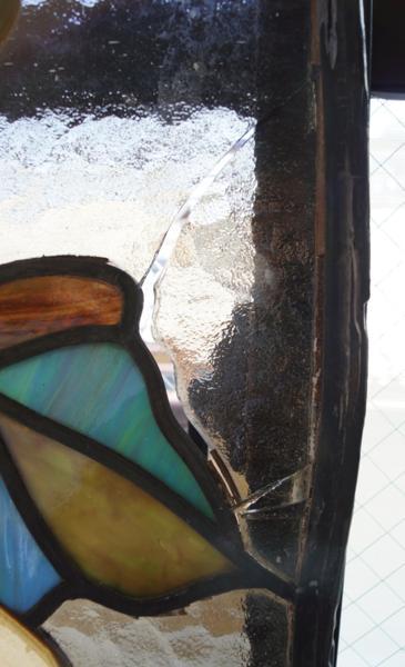 大型ステンドグラス 鳳凰 極楽鳥 1008L3G※_画像9