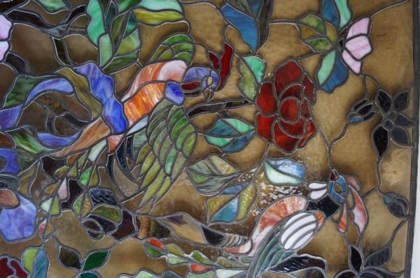 大型ステンドグラス 鳳凰 極楽鳥 1008L3G※_画像5