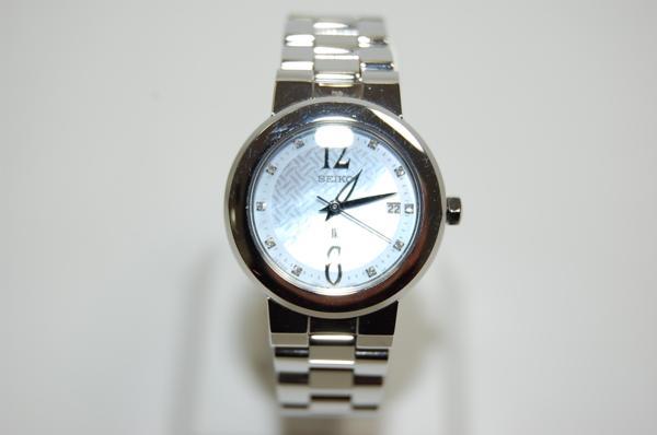 SEIKO セイコー ルキア SSVK073 7N82-0CN0 シェル文字盤 SS クォーツ レディス腕時計 _画像2