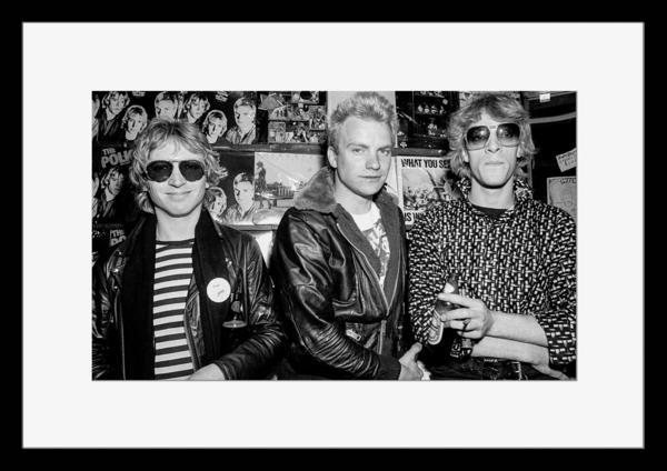 BW:人気ロックバンド!ポリス/The Police/モノクロ写真フレーム-2