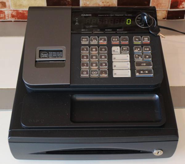 動作確認済 CASIO レジスター NL-200 黒 完動品 領収証発行可能 店名可能 消費税率変更可