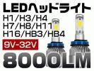 35%OFF! 2017二代目 LEDヘッドライト H4 Hi/Lo H1 H3 H7 H8 H11 HB3 HB4 LEDフォグランプ8000LM 3面発光COBチップ高効率快速点灯1年保証RC