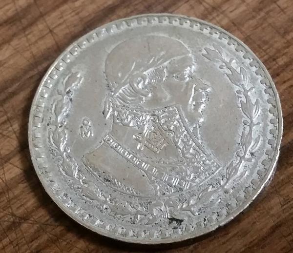 フリーメイソン コイン 硬貨 1ペソ 1959年 フリーメーソン 秘密結社 メキシコ フリーメーソン アノニマス イルミナティ 米軍 ミリタリー