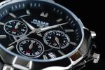 1円×3本 新品 未使用 本物 正規 元HAMILTON傘下 米国SEIKO セイコー 美しいIPブラック加工 PULSAR 腕時計 クロノグラフ 腕時計 50m防水
