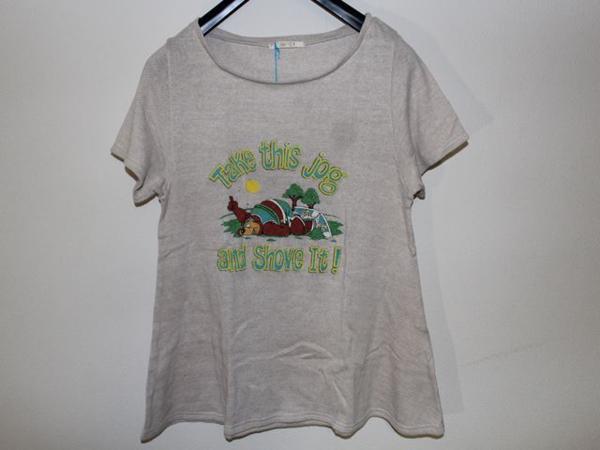 スワンジー SWANZY レディース半袖Tシャツ ベージュ 新品_画像1