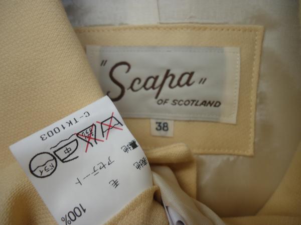 レナウン Scapa OF SCOTLAND ジャケット サイズ38_画像2