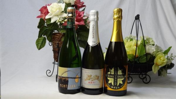 世界の甘口スパークリングワイン3本セット(天使のア_画像1