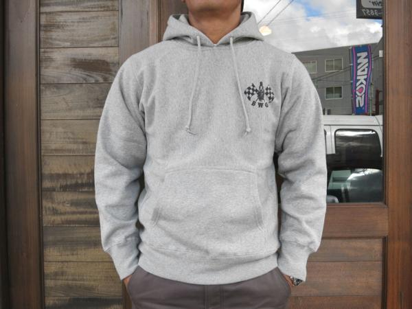 B.W.G × Magical Design Checker Spark HOODIE GRAY S BLUCO