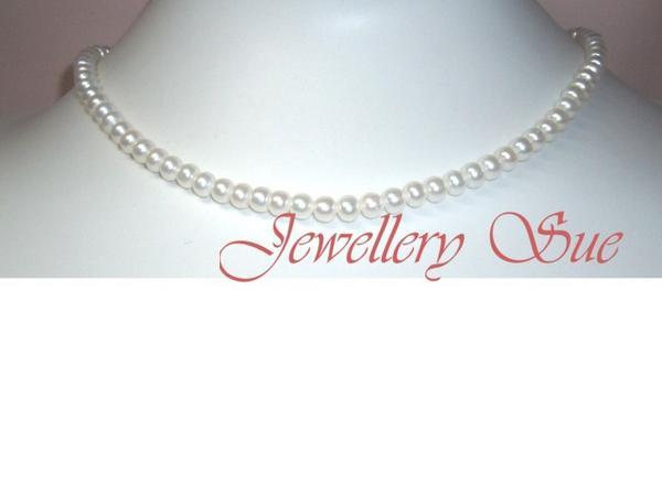 517wこんな美しいベビー真珠ホワイトパールネックブレスセット_画像2