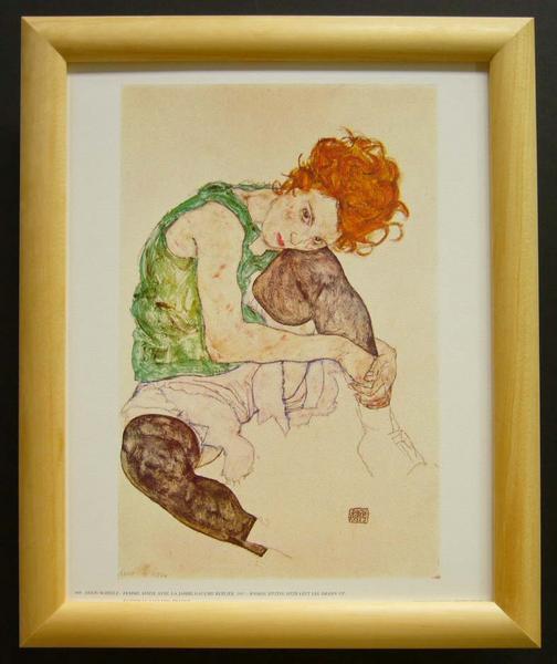 名画ポスター Schiele「Woman sitting」-新品-即決-_画像1
