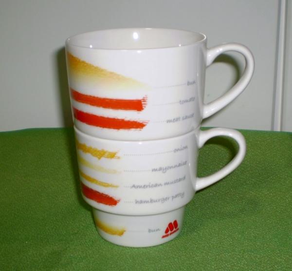 マグカップ モスバーガー  スタッキング  大小2個セット