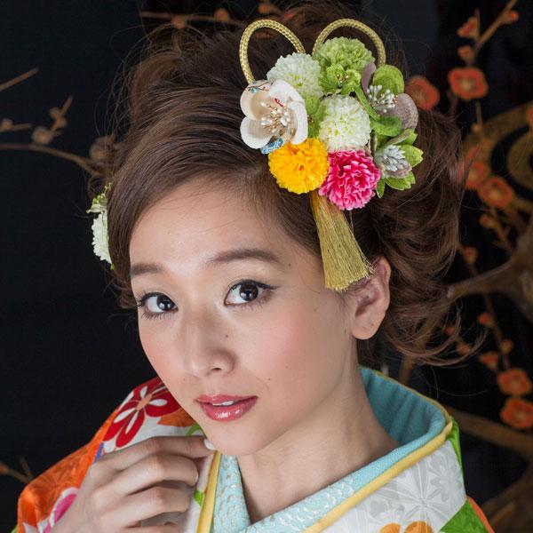 髪飾り 1コー ム&1ピン 手染め加工 はなまい新品 (株)安田屋_画像1