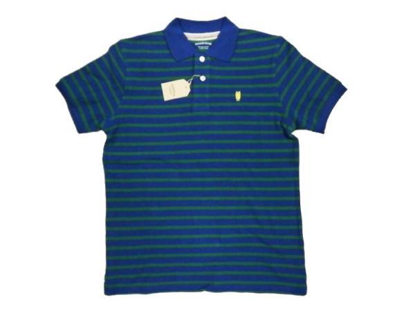 KEARNEY HOUSE 「フクロウ」 ボーダー・半袖ポロシャツ 緑M新品_画像1