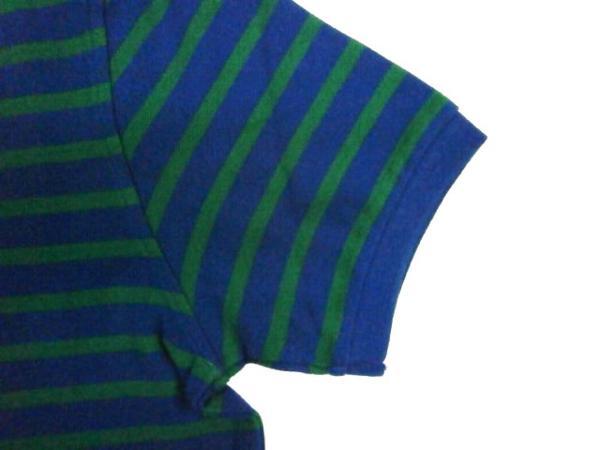 KEARNEY HOUSE 「フクロウ」 ボーダー・半袖ポロシャツ 緑M新品_画像4