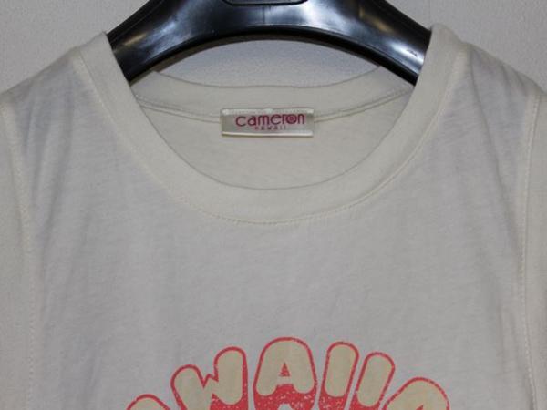 キャメロンハワイ Cameron Hawaii レディースノースリーブTシャツ Mサイズ NO16_画像3