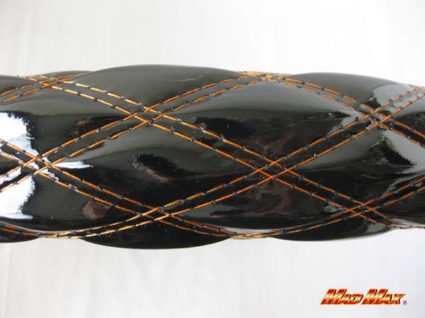 国産 エナメル ブラック/オレンジ ダブル ハンドルカバー 2HS_画像3