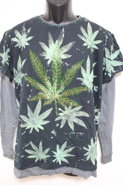 アイコニック ICONIC メンズダブルスリーブTシャツ Lサイズ 長袖 ブラック 新品_画像1