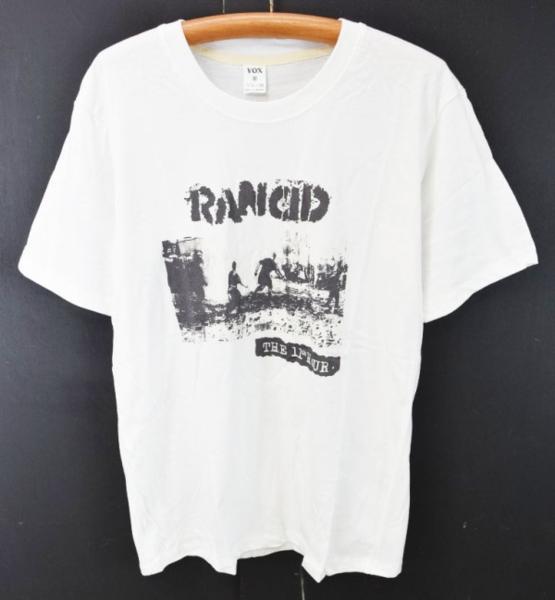 メール便可 未使用 RANCID ランシド プリント半袖Tシャツ THE 11th HOUR M 白 激安#【BIG2nd大阪店】【170314】【メンズ】mts654