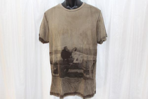 キルシティー KILL CITY メンズ半袖Tシャツ Mサイズ カーキ アメリカ製 新品_画像1