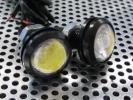 LEDデイライト 埋め込みタイプ 防水 ホワイト 3chip COB 12V Φ22.3mm 2個 ブラック イーグルアイ スポットライト