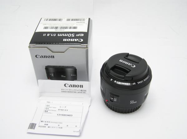 ★ハロ-カメラ★5826 Canon EF(50mm/1.8Ⅱ) レンズ .箱有り 保証書有り 動作品 現状 綺麗.美品..極上品
