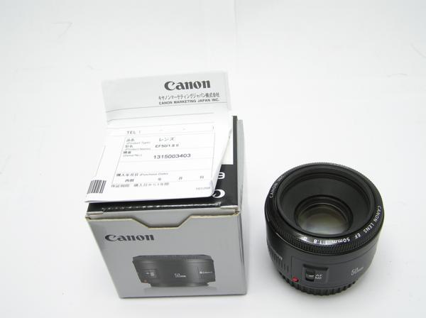 ★ハロ-カメラ★5826 Canon EF(50mm/1.8Ⅱ) レンズ .箱有り 保証書有り 動作品 現状 綺麗.美品..極上品_画像2