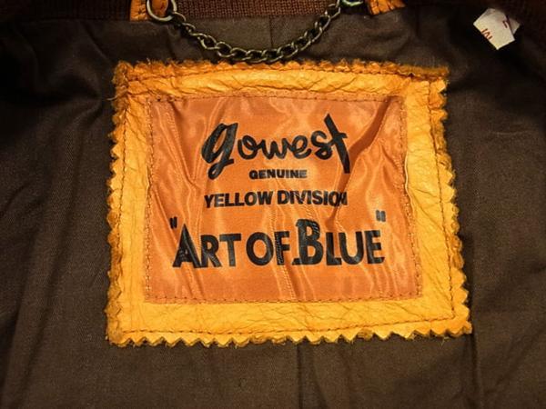 ◎ゴーウエスト レザージャケット 羊革 ジップジャケット ラムレザー gowest メンズ サイズ:2 リアルレザー タイトシルエット_画像5