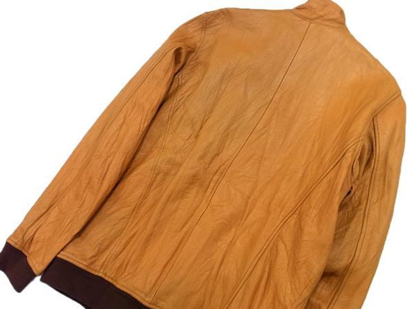 ◎ゴーウエスト レザージャケット 羊革 ジップジャケット ラムレザー gowest メンズ サイズ:2 リアルレザー タイトシルエット_画像2
