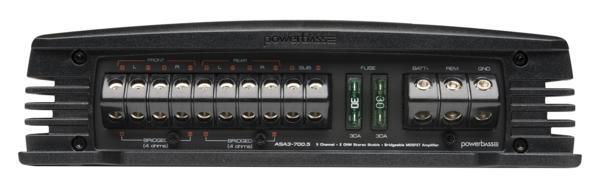 ■USA Audio■アメリカのパワーバスPowerBass ASA3シリーズ5ch パワーアンプASA3-700.5 Class AB Max.1400W ●保証付●税込_画像3