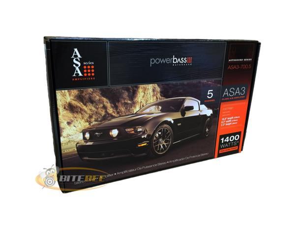 ■USA Audio■アメリカのパワーバスPowerBass ASA3シリーズ5ch パワーアンプASA3-700.5 Class AB Max.1400W ●保証付●税込_画像4