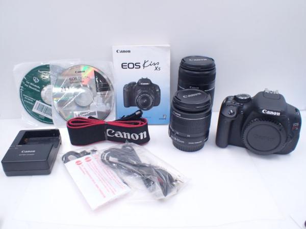 Canon キャノン デジタル一眼レフカメラ EOS Kiss X5 ダブルズームキット □ 4E224-1
