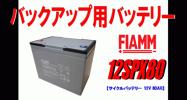 キャンピングカー用バッテリー FIAMM 12V 80AH