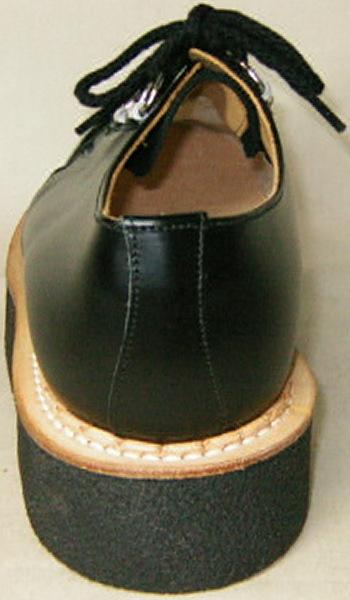 別注品ジョージコックス新品イギリス英国製12261黒 コンビ素材コバ本革uk4 GeorgeCoxイングランド ラバーソール_画像10
