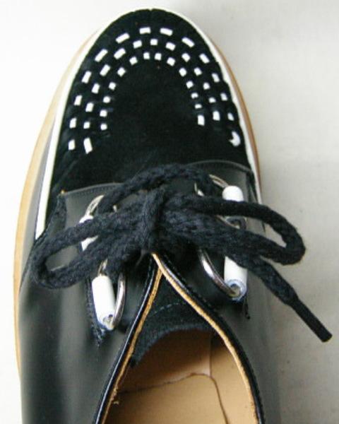 別注品ジョージコックス新品イギリス英国製12261黒 コンビ素材コバ本革uk4 GeorgeCoxイングランド ラバーソール_画像8