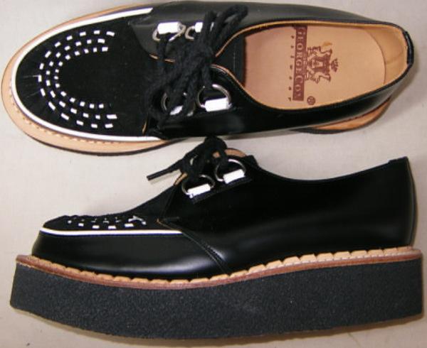 別注品ジョージコックス新品イギリス英国製12261黒 コンビ素材コバ本革uk4 GeorgeCoxイングランド ラバーソール_画像3