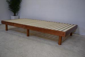 ○布団が干せるすのこベッド シングル ブラウン(その1) 新品