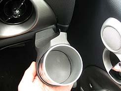【M's】R50 R52 R53 ミニ(01y-06y)ALCABO 高級 ドリンクホルダー(BK+リング)//右ハンドル用 BMW MINI カップホルダー AL-091BS AL091BS_※ 画像はシルバーの取付けサンプル
