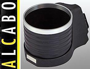 【M's】R50 R52 R53 ミニ(01y-06y)ALCABO 高級 ドリンクホルダー(BK+リング)//右ハンドル用 BMW MINI カップホルダー AL-091BS AL091BS_画像1