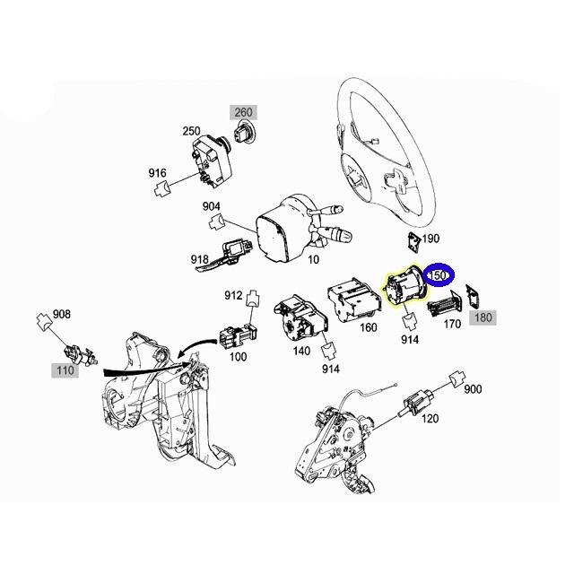 純正品 ヘッドライトスイッチ ヘッドランプスイッチASSY/ベンツ W204 GLKクラス GLK280 GLK300 (204-905-3304)_画像2