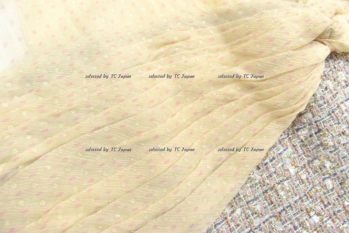 セール【CHANEL】新品同様 ロイヤルクリーニング済み シャネル・メタリック・ツイード・ワンピース モデル着用 パーティーなどに F42_画像6