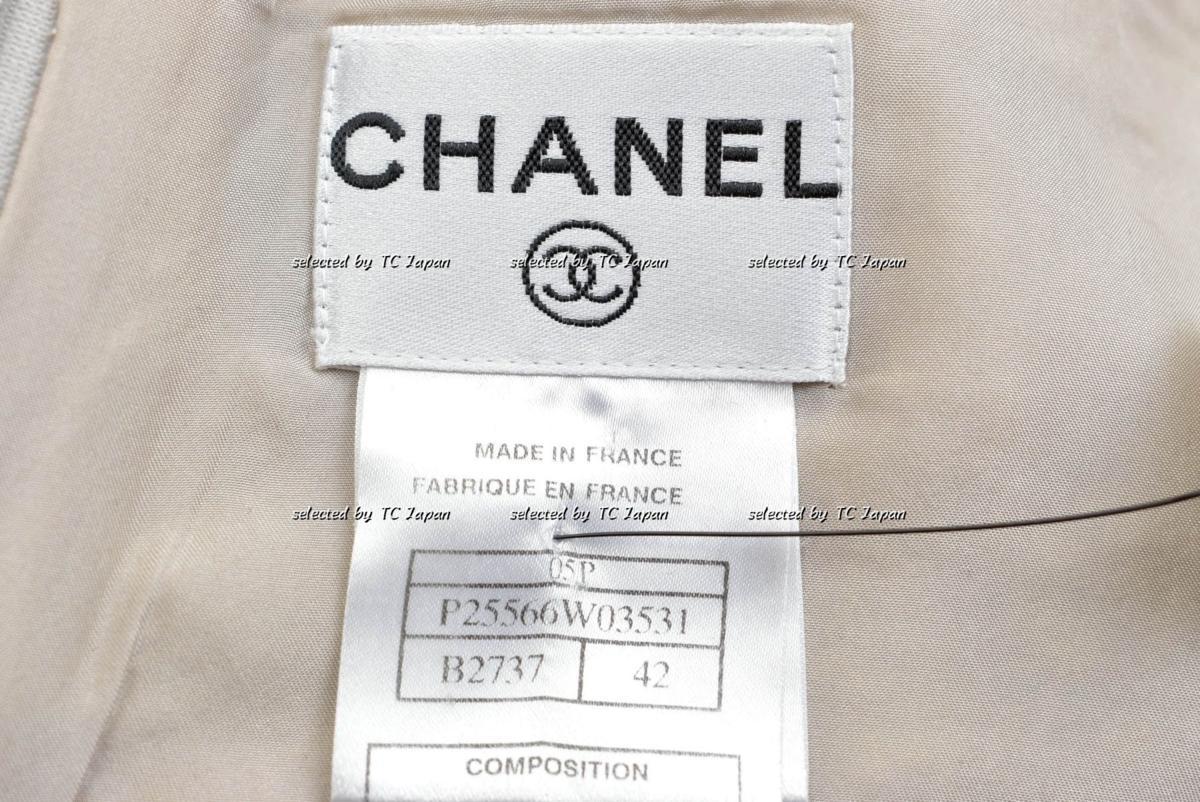 セール【CHANEL】新品同様 ロイヤルクリーニング済み シャネル・メタリック・ツイード・ワンピース モデル着用 パーティーなどに F42_画像10