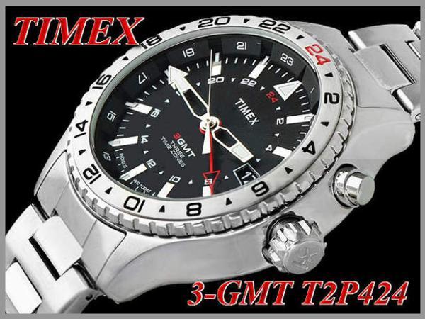 タイメックス TIMEX インテリジェント クオーツ 3 -GMT T2P424_画像4