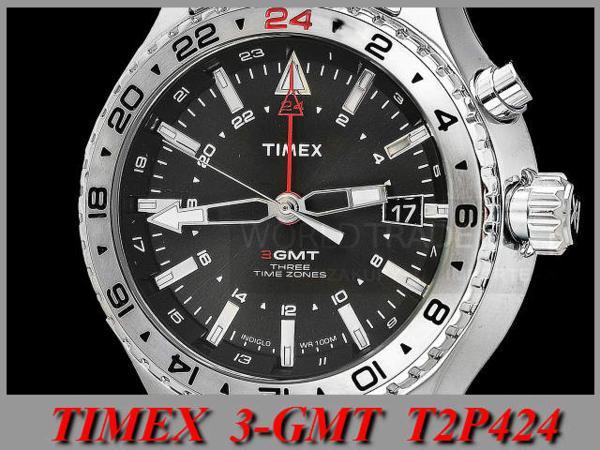 タイメックス TIMEX インテリジェント クオーツ 3 -GMT T2P424_画像3