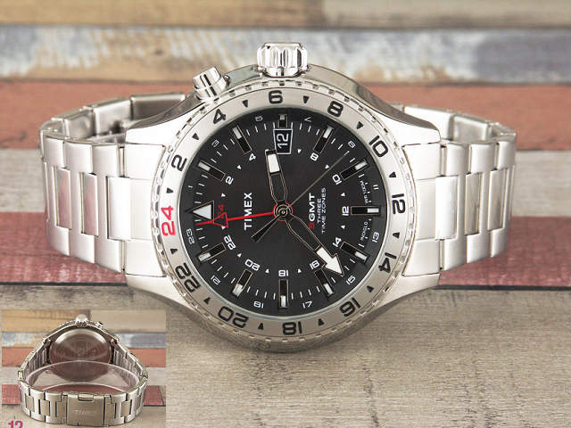 タイメックス TIMEX インテリジェント クオーツ 3 -GMT T2P424_画像2