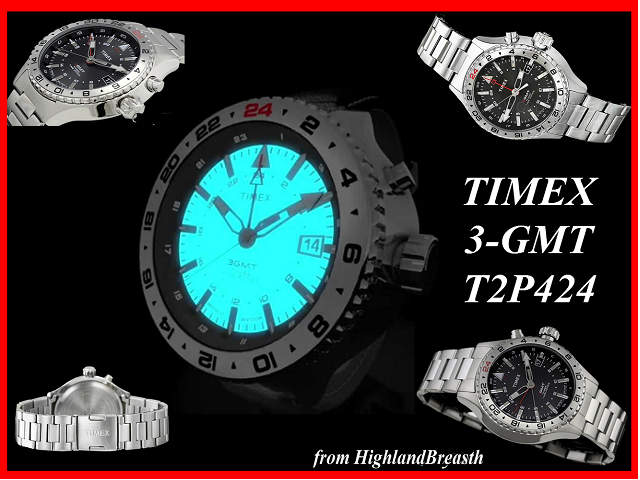 タイメックス TIMEX インテリジェント クオーツ 3 -GMT T2P424_画像6