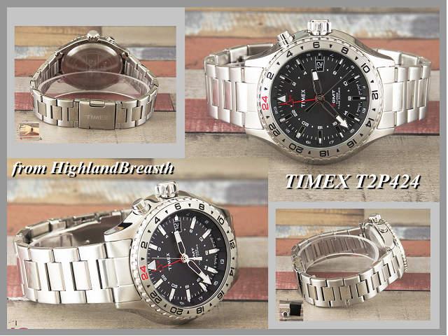 タイメックス TIMEX インテリジェント クオーツ 3 -GMT T2P424_画像7