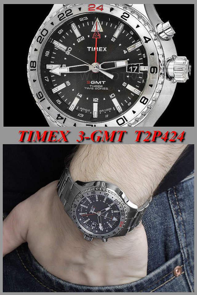 タイメックス TIMEX インテリジェント クオーツ 3 -GMT T2P424_画像5